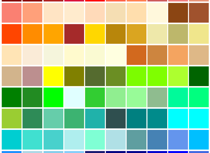 All of the Named Colors for CSS lead-image