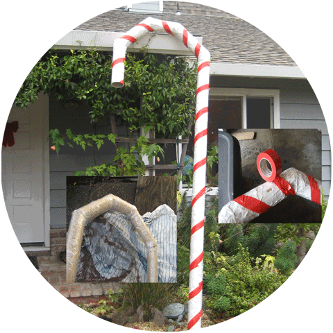 Carpet-tube Candy-Cane