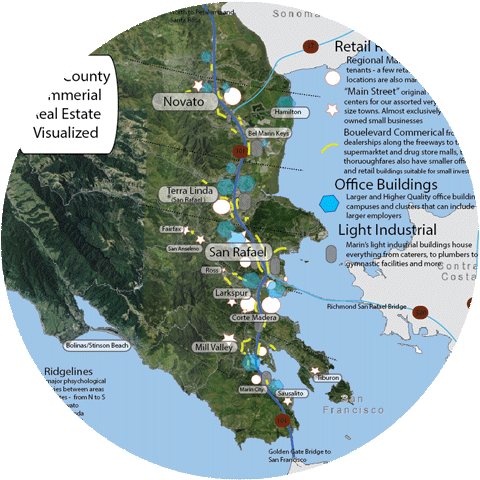 Marin County Commercial Map